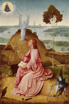 Angel Works - saint john the evangelist on patmos 1485 Hieronymus Bosch