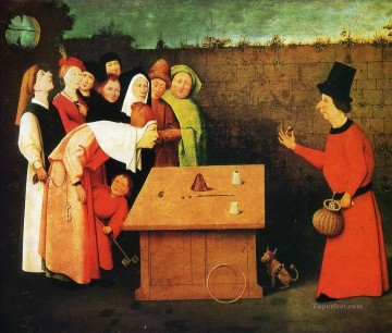 Hieronymus Oil Painting - the conjuror Hieronymus Bosch