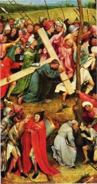 cross - christ carrying the cross 1490 Hieronymus Bosch