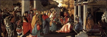 Botticelli Canvas - Adoration Of The magi Sandro Botticelli
