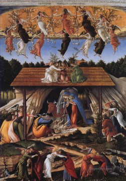 Botticelli Canvas - Sandro Mystic nativity Sandro Botticelli