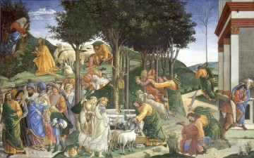Sandro Botticelli Painting - Scenes from the Life of Moses Sandro Botticelli