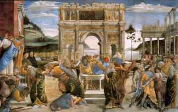 Botticelli Canvas - The Punishment of Korah Sandro Botticelli