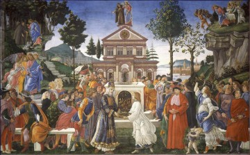 Sandro Botticelli Painting - The Temptation of Christ Sandro Botticelli