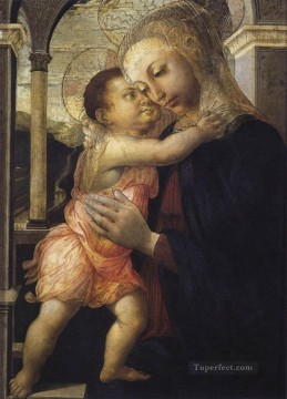 on canvas - Madonna And Child Sandro Botticelli