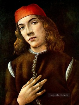 Man Art - Portrait of a young man 1483 Sandro Botticelli