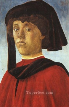 Sandro Botticelli Painting - Portrait of a young man Sandro Botticelli