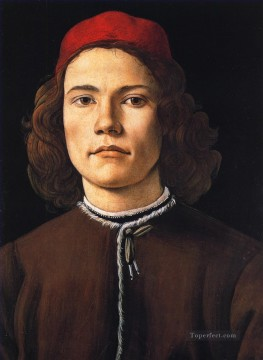 Botticelli Canvas - Sandro Portrait of a young man Sandro Botticelli