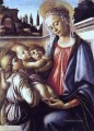 Madonna And Child And Two Angels Sandro Botticelli