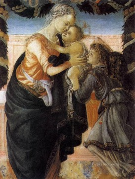 Botticelli Canvas - Madonna And Child With An Angel 2 Sandro Botticelli