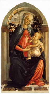 garden Oil Painting - Madonna Of The Rosegarden Sandro Botticelli