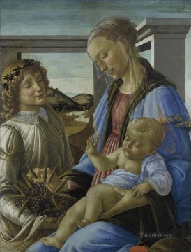 on canvas - Madonna and child with a angel Sandro Botticelli