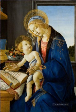 Botticelli Canvas - Madonna with the book Sandro Botticelli