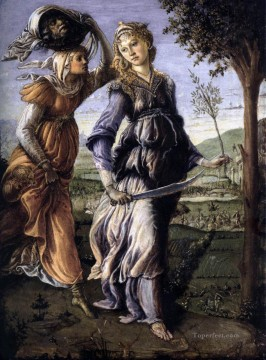 Botticelli Canvas - The Return Of Judith To Bethulia Sandro Botticelli