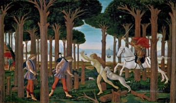 Botticelli Canvas - Nastagio first Sandro Botticelli