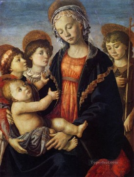 Angels Works - The Virgin And Child With Two Angels Sandro Botticelli