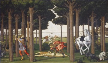 Botticelli Canvas - Nastagio second Sandro Botticelli