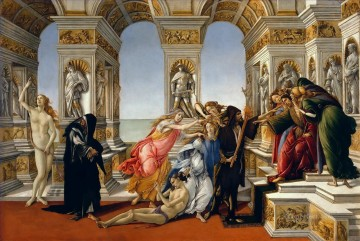 Botticelli Canvas - Calumny Sandro Botticelli
