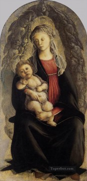 Botticelli Canvas - Madonna In Glory With Seraphim Sandro Botticelli