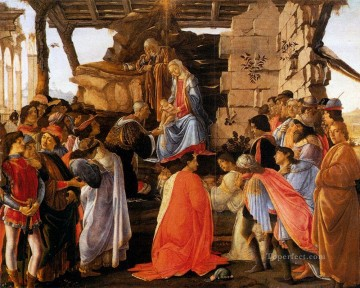 Botticelli Canvas - Sadro Adoration Of The Magi Sandro Botticelli