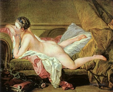 Nude on a Sofa Rococo Francois Boucher Oil Paintings