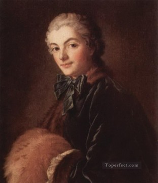 Portrait of a Lady with Muff Francois Boucher Oil Paintings