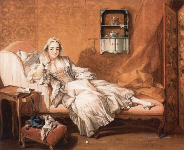 Wife Deco Art - Portrait of the artist wife Francois Boucher