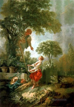 Landscape with Kirschpfluck Francois Boucher Oil Paintings