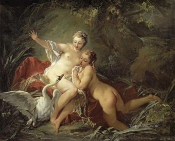 swan and nudes Francois Boucher Oil Paintings