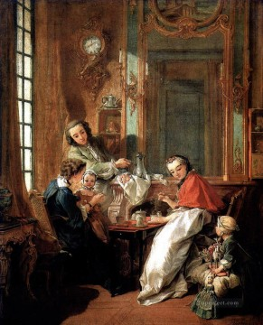 Breakfast Francois Boucher Oil Paintings