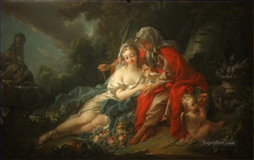 mona lisa Painting - Earth Vertumnus and Pomona Francois Boucher