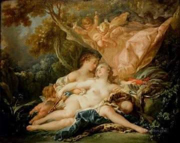 Jupiter In the Guise of Diana Francois Boucher Oil Paintings