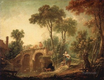 The Bridge Francois Boucher Oil Paintings
