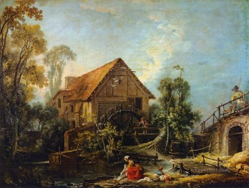 The Mill Francois Boucher Oil Paintings