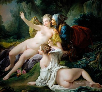 mona lisa Painting - Vertumnus and Pomona 1740 Francois Boucher