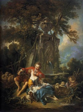 An Autumn Pastoral Rococo Francois Boucher Oil Paintings