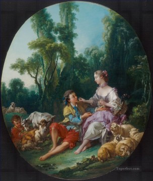 Are They Thinking About the Grape Rococo Francois Boucher Decor Art