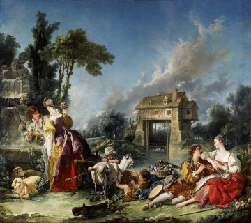 Love Painting - Fountain of Love Francois Boucher