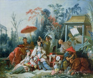Chinese Painting - The Chinese Garden Francois Boucher