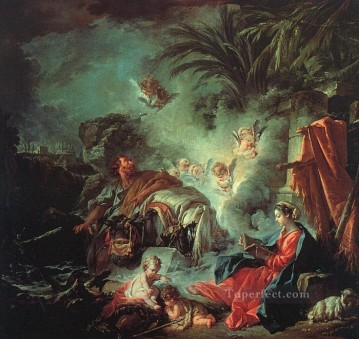 Rest Painting - The Rest on the Flight into Egypt Rococo Francois Boucher