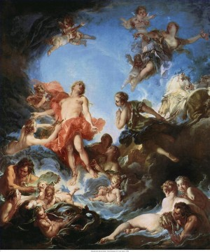 The Rising of the Sun Francois Boucher Oil Paintings