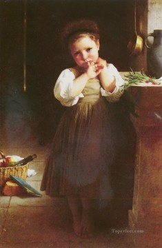 Adolphe MAUVAISE ECOLIERE Realism William Adolphe Bouguereau Oil Paintings