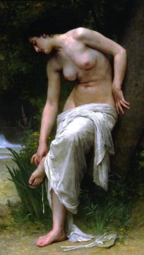 William Adolphe Bouguereau Painting - Apres le bain William Adolphe Bouguereau
