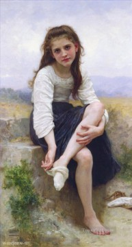 Avant le bain Realism William Adolphe Bouguereau Oil Paintings