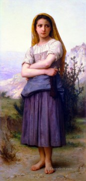 William Adolphe Bouguereau Painting - Bergere 1886 Realism William Adolphe Bouguereau