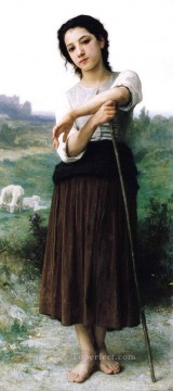 William Adolphe Bouguereau Painting - Bergere Realism William Adolphe Bouguereau