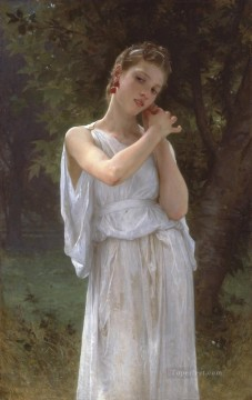 Boucles DOreilles The earrings 1891 Realism William Adolphe Bouguereau Oil Paintings