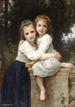 Deux soeurs Realism William Adolphe Bouguereau Oil Paintings