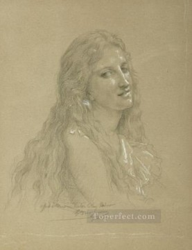 Drawing of a Woman Realism William Adolphe Bouguereau Oil Paintings