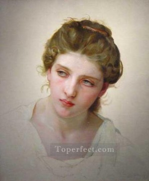 William Adolphe Bouguereau Painting - Etude Femme Blondede face 1898 Realism William Adolphe Bouguereau